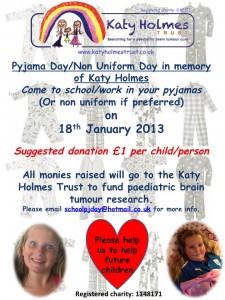 Katy Holmes Trust PJ Day!