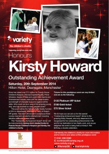 Russell Watson & Variety Children's Charity Honour Kirsty Howard