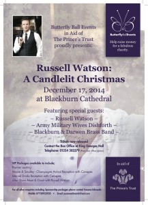 Butterfly Ball in aid of The Prince's Trust – Blackburn Cathedral 17th December 2014