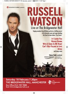 RUSSELL WATSON – BRIDGEWATER HALL 18th FEBRUARY 2017