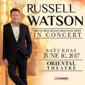 Russell Watson Oriental Theatre Chicago June 10 2017