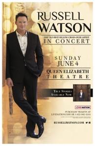 Russell Watson Queen Elizabeth Theatre Toronto June 4 2017